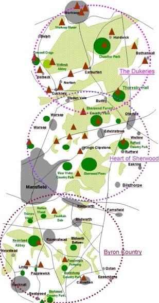 sherwood forest england map Sherwood Forest Information The Best Uk Website For Sherwood